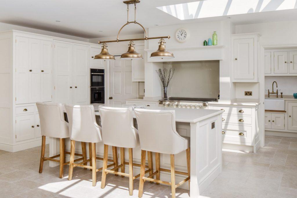 WarrenFarm-shaker cream kitchen brass pendants low res